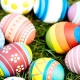 Image of Easter eggs on grass